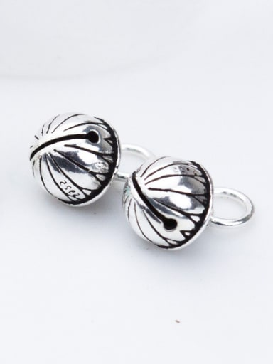 Thai Silver With Antique Silver Plated Vintage Oval Party Charms
