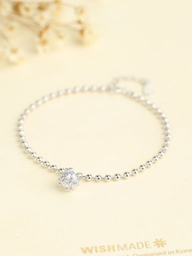 Women 925 Silver Zircon Bracelet
