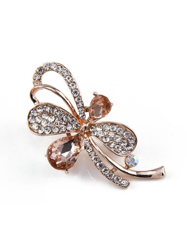 2018 Dragonfly Shaped Crystal Brooch