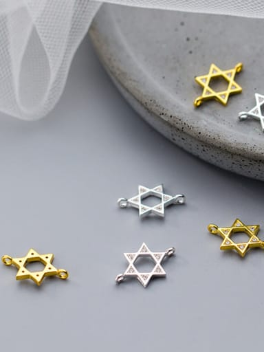 925 Sterling Silver With 18k Gold Plated Simplistic Geometric Connectors