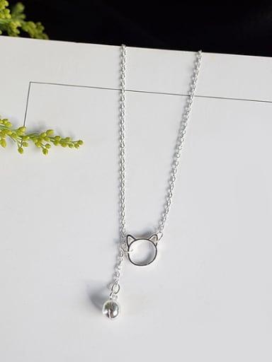Fashion Little Kitten Silver Necklace
