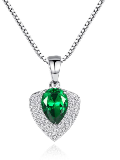 925 Sterling Silver With Gemstone Delicate Heart Locket Necklace