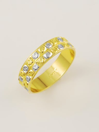 Shimmering 24K Gold Plated Geometric Rhinestone Ring