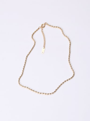 Titanium With Gold Plated Simplistic Beads Charm Necklaces