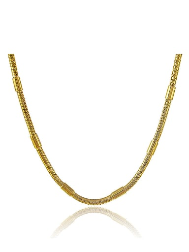 Simply Style 24K Gold Plated Geometric Shaped Necklace