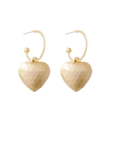 Alloy With Gold Plated Fashion Heart Hook Earrings