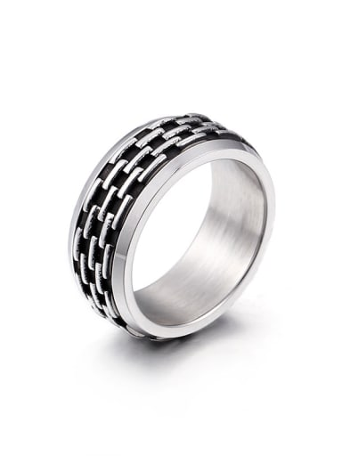 Stainless Steel With Antique Silver Plated Fashion Rings