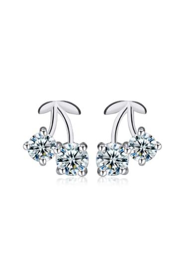 Double Shining Zircons Hot Selling Stud Earrings