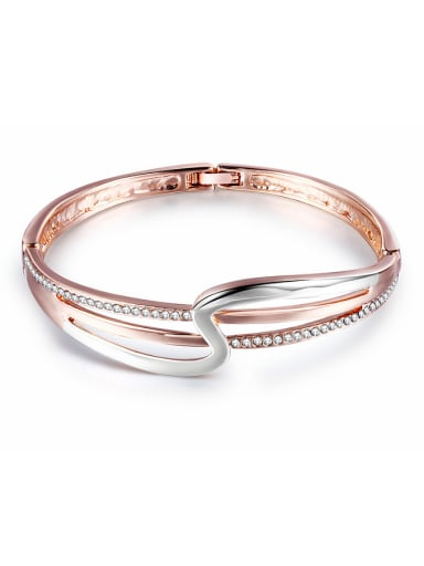 High-grade Double Color Geometric Crystals Bangle