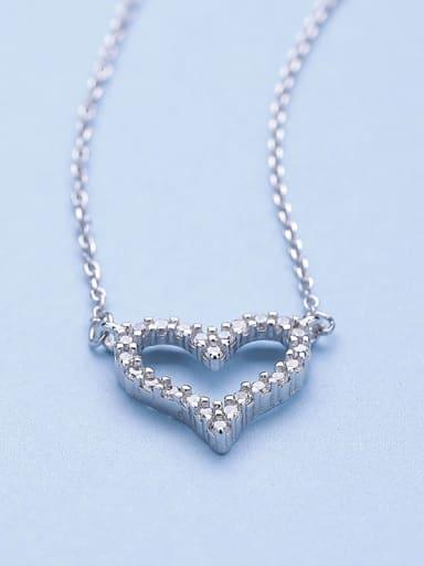 2018 2018 Heart Zircon Necklace