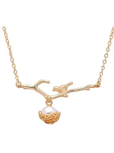 Creative Bird Shaped Artificial Pearl Necklace