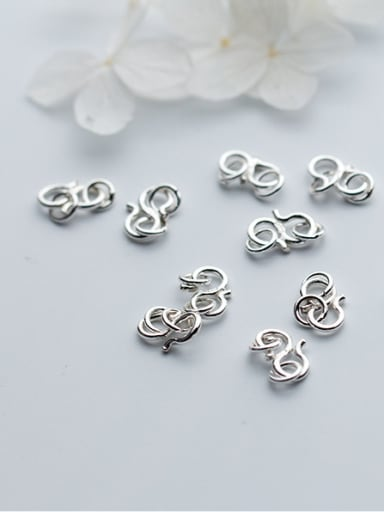 925 Sterling Silver With Silver Plated Fashion Connectors