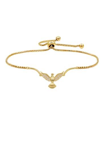Copper With  Cubic Zirconia  Simplistic Animal pigeon  Bracelets