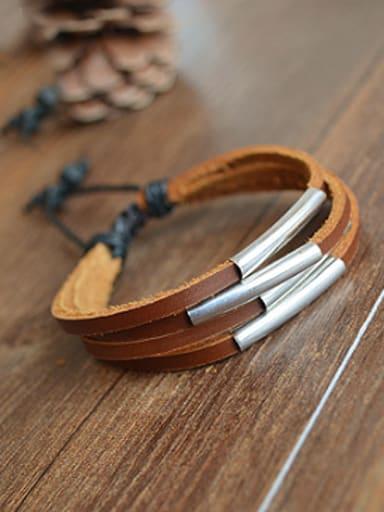 Unisex Multi-layer Cownhide Leather Bracelet