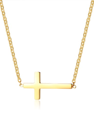 Stainless Steel With Classic cross Necklaces