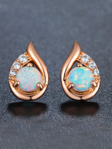 Rose Gold Plated stud Earring