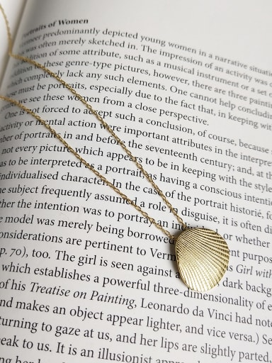 Sterling silver 18K-gold shell  necklace
