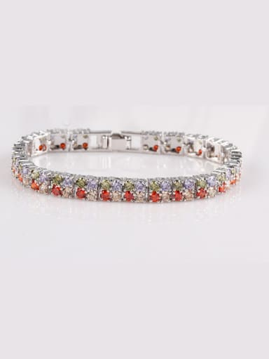 Qing Xing Diamond AAA Round Zircon Luxury Dinner European And American Quality Bracelet,