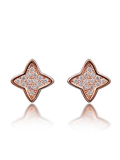 Tiny Shiny Zirconias-covered Star 925 Silver Stud Earrings