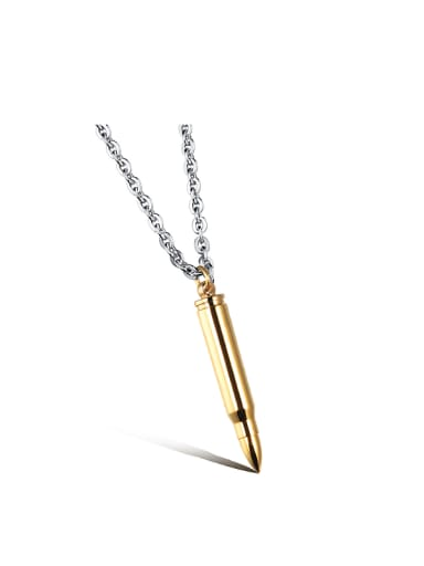 gold Personalized Titanium Plating Men Necklace