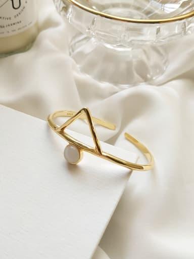 Sterling Silver design geometric triangle cat's Eye Bracelet