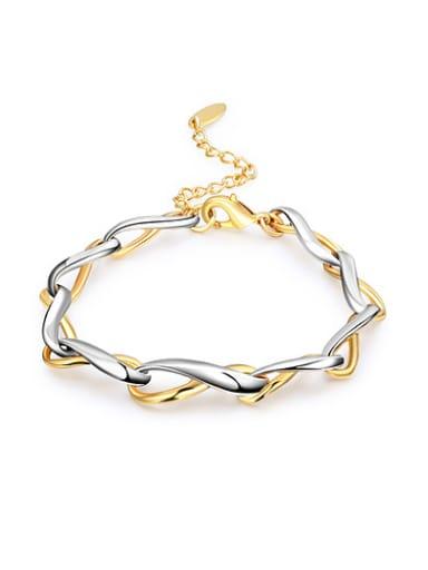 Adjustable Double Color Geometric Shaped Bracelet