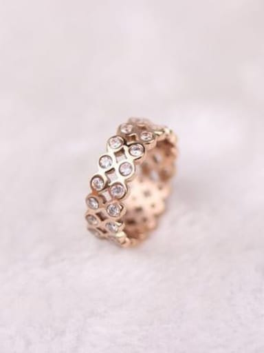 2018 Double Lines Zircons Fashion Ring