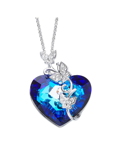 2018 2018 2018 2018 Heart-shaped Crystal Necklace