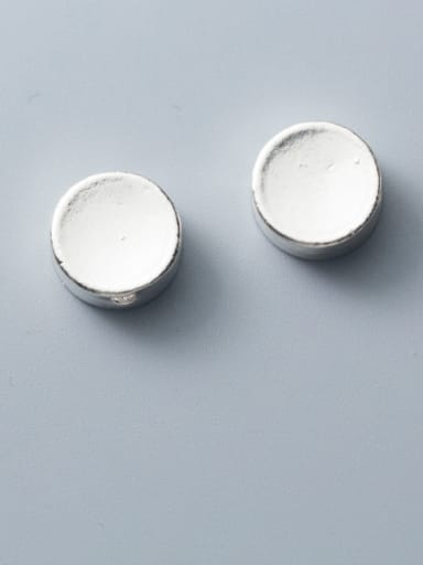 925 Sterling Silver With Platinum Plated Simplistic Smooth  Round Beads