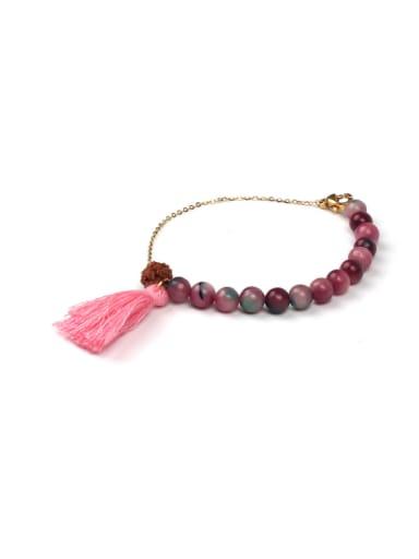 Retro Style Semi-precious Stones Tassel Bracelet