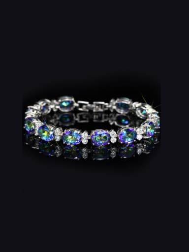 Platinum Plated Zircon Bracelet