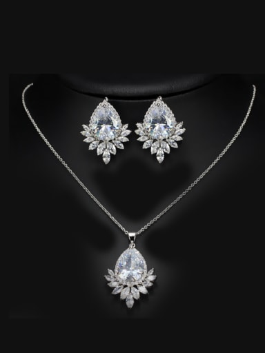 AAA Zircons Fashion Two Pieces Jewelry Set