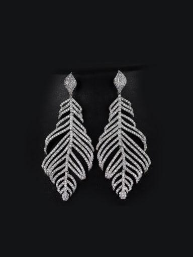 Luxury Leaves-shape drop earring