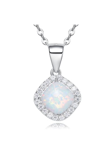 Fashion Opal stone Cubic Zirconias 925 Silver Pendant