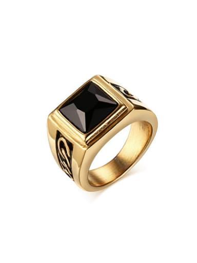 Exquisite Gold Plated Carnelian Titanium Ring