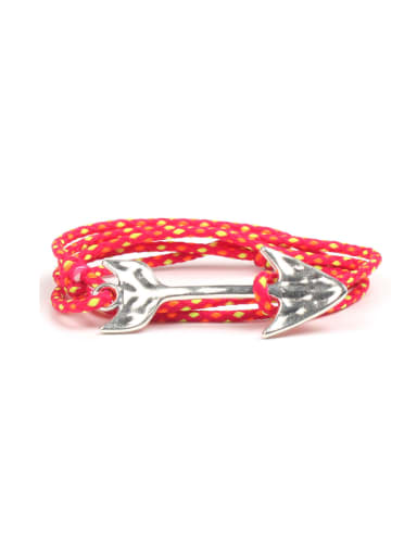 Multi-layer Alloy Arrow Woven Polyamide Bangle
