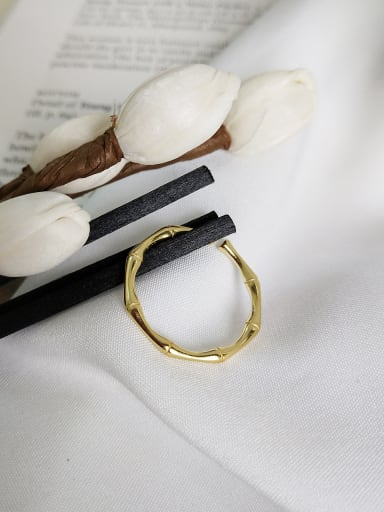 Sterling Silver simple bamboo Festival adjustable rings