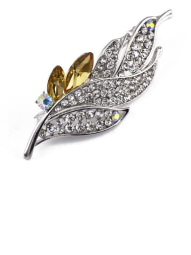 2018 2018 2018 2018 2018 2018 Leaf-shaped Crystals Brooch