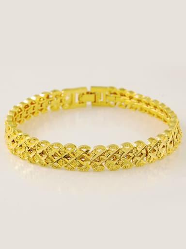 Men Luxury 24K Gold Plated Letter X Shaped Bracelet