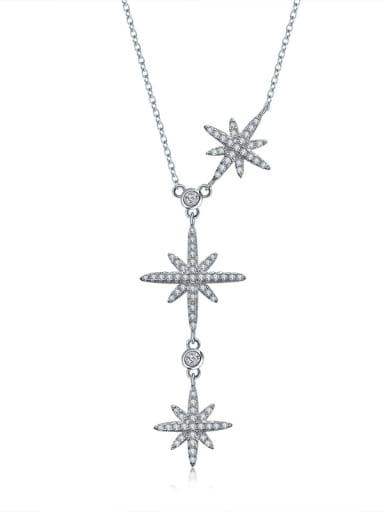 New micro-inlay zircon stars adjust necklaces