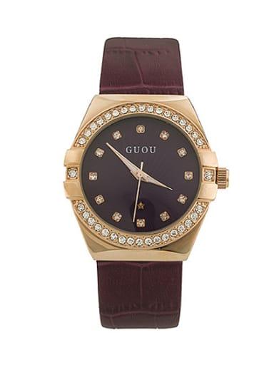 GUOU Brand Simple Rhinestones Women Watch