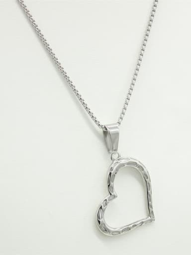Love Heart-shape Stainless Steel Necklace