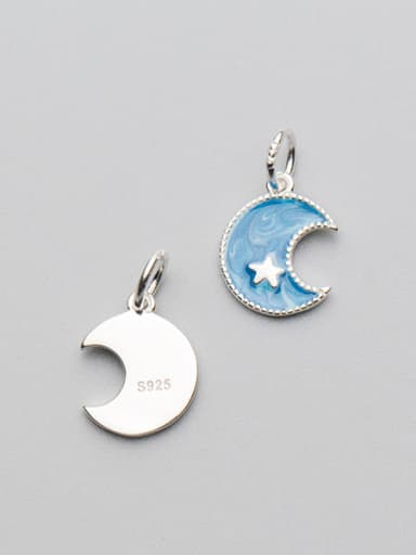 925 Sterling Silver With Silver Plated Fashion Moon Charms