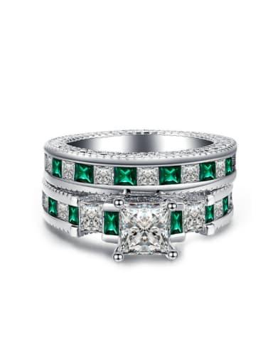 Extravagant Double Layer AAA Zircons Ring