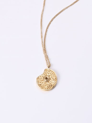 Titanium With Gold Plated Cute Flower Necklaces