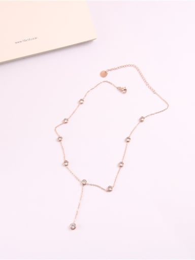 Simple Fashion Style Zircons Clavicle Necklace