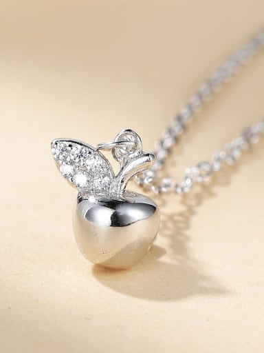 2018 925 Silver Apple Necklace