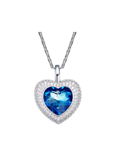 new 2018 2018 2018 2018 2018 2018 2018 2018 S925 Silver Heart-shaped Necklace
