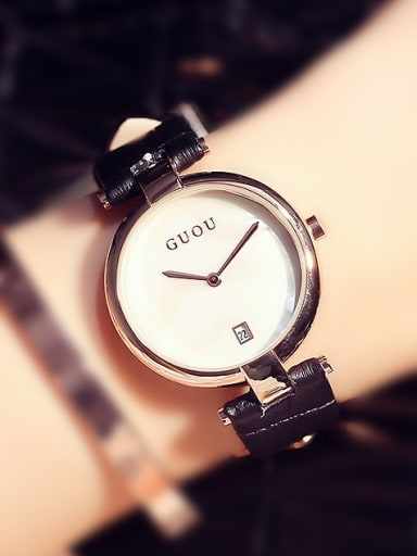 GUOU Brand Simple Numberless Watch