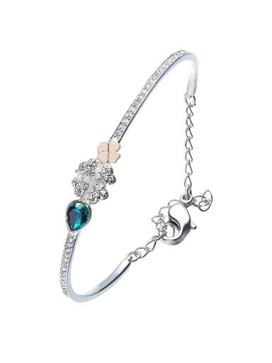 S925 Silver Clover Bracelet